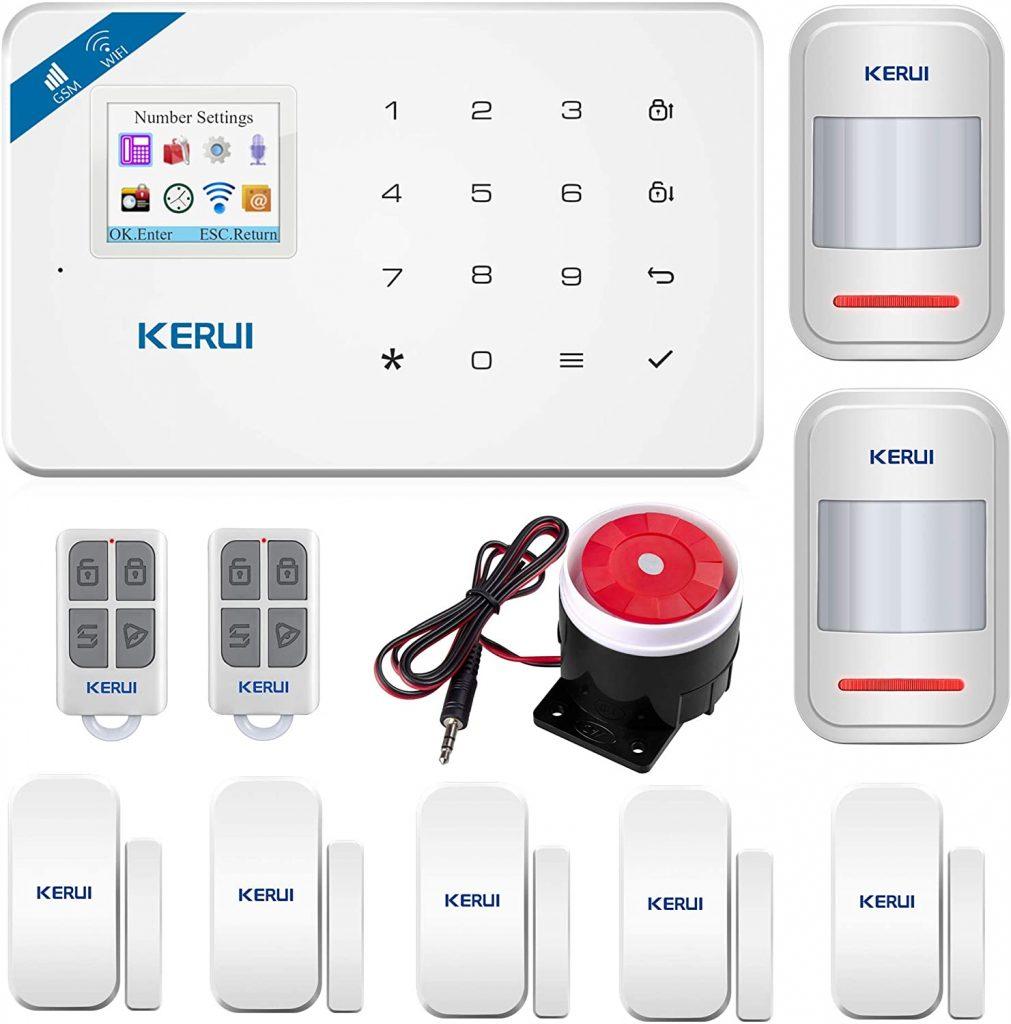 KERUI W18 GSM WIFI Sistema de Alarma con sensores de movimiento Seguridad para Hogar